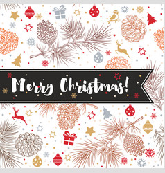 happy new year and merry christmas 2018 33 vector image