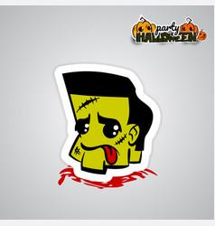 helloween evil voodoo doll pop art comic vector image