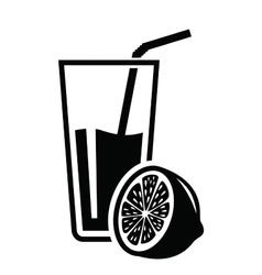 juice icon vector image vector image