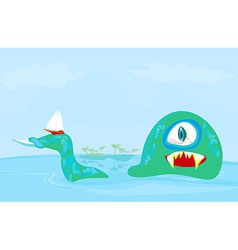 Lake monster vector