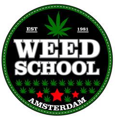 Marijuana stamp over white background vector