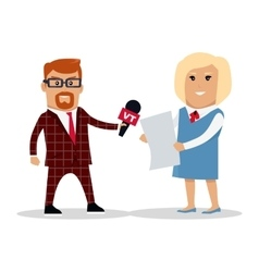 Media Workers Characters vector image vector image