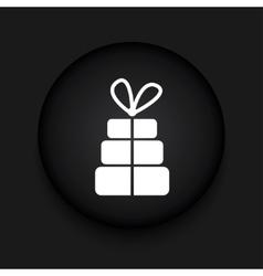 Modern gift black circle icon vector