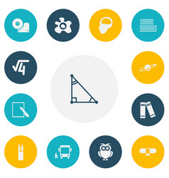 set of 13 editable science icons includes symbols vector image vector image