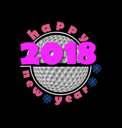 Set of golf and new year 2018 vector