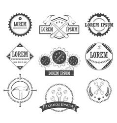 Set of vintage retro tools labels vector image
