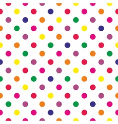 Tile pattern with polka dots on white background vector image vector image
