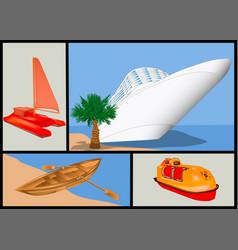 Water transport set vector