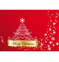 glossy Christmas background vector image