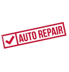 Auto repair rubber stamp vector