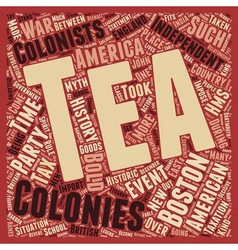 The boston tea party 1 text background wordcloud vector