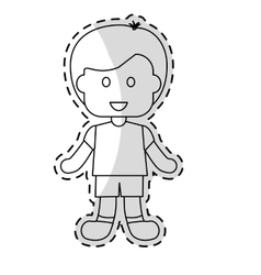 cute kid icon vector image