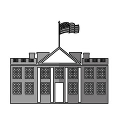 White house american icon vector