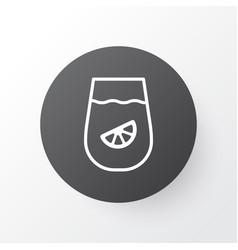 Lemon juice icon symbol premium quality isolated vector