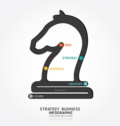Infographic business strategy line concept vector image