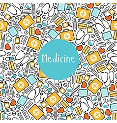Seamless pattern medicine vector