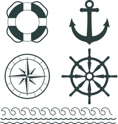 Nautical decoration vector