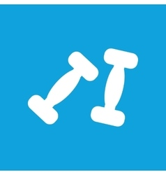 Two dumbbells icon simple vector