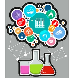 Infographic with science and technology symbols vector