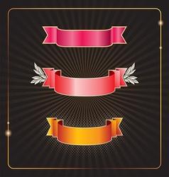 Banner Black background vector image