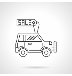 Automobile business icon line design icon vector