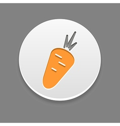 Carrot icon vegetable vector