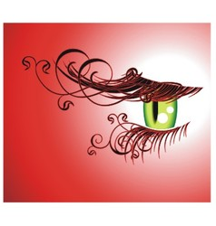 Floral eyelashes vector