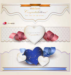 Wedding congratulations card vector