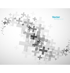 Abstract background created with plus signs - vector image vector image