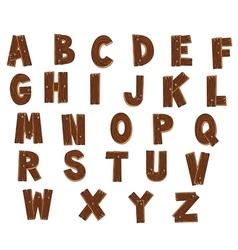 Alphabet with woods vector