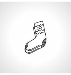 Black line warm socks icon vector image