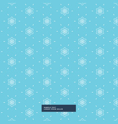 Blue background with flower pattern vector
