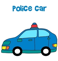 Collection of police car art vector