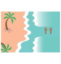 Drowning person design vector