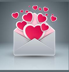 envelop heart love gift icon vector image