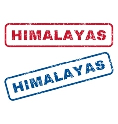 Himalayas rubber stamps vector