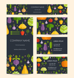 identity for healthy organic food business vector image