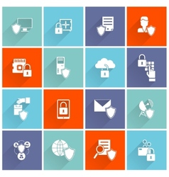 Information Security Icon Flat vector image vector image