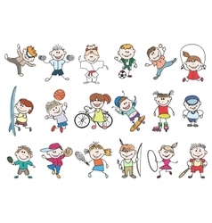 Kids sport activity vector image