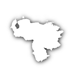 Map of venezuela with shadow vector