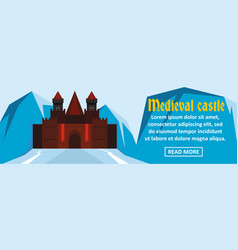 medieval castle banner horizontal concept vector image