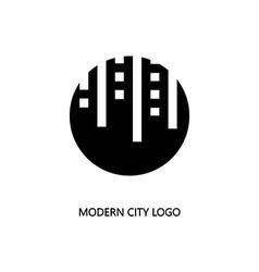 Modern city logo vector
