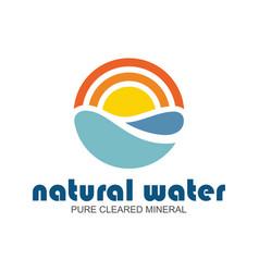 natural water logo vector image