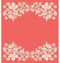Ornate elegant floral frame vector