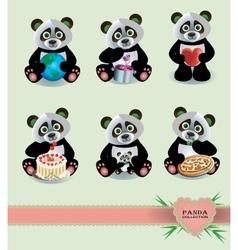 Panda Collection vector image vector image