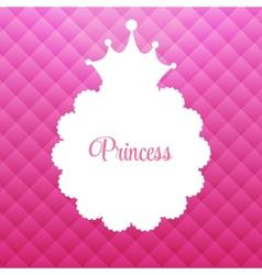 Princess Background with Crown vector image vector image