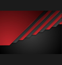 red and black corporate stripes background vector image