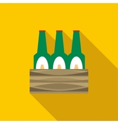 Set of beer bottles icon flat style vector image vector image