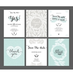Set of save the date cards vector