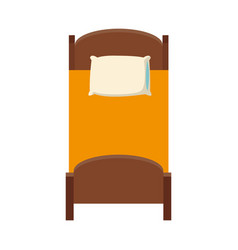 single bed icon vector image